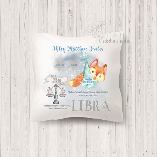 Libra - Baby Star Sign Keepsake Cushion